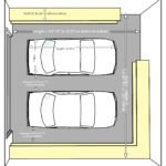 dimensions of two car garage