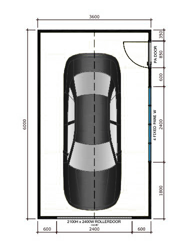 Size and layout specifics for a one car garage garage for What are the dimensions of a one car garage