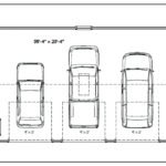 three car garage dimensions